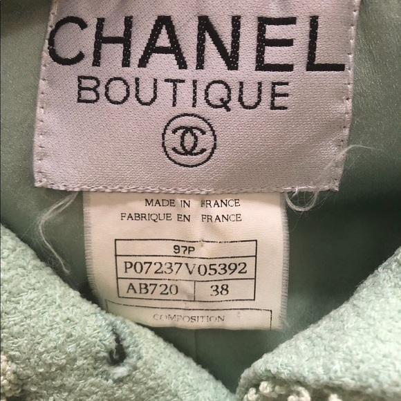 CHANEL Jackets & Blazers - Chanel Tweed Jacket mint color